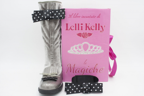 Луксозни велурени ботуши с панделка LELLI KELLY
