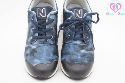 Маркови оригинални маратонки за момче NATURINO в синьо-черен камуфлаж