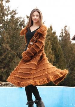 ръчно плетено манто