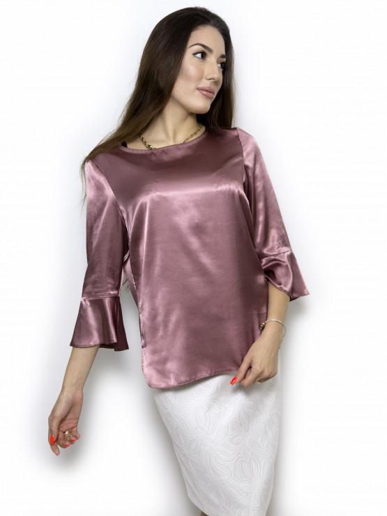 Официална блуза с ръкав 7/8 и странични цепки