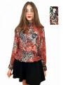 Дамска блуза с дълъг ръкав с животински принт + калъфче със същия принт