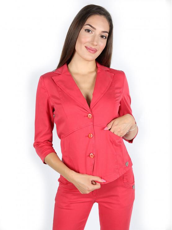 Червено сако от тенсел