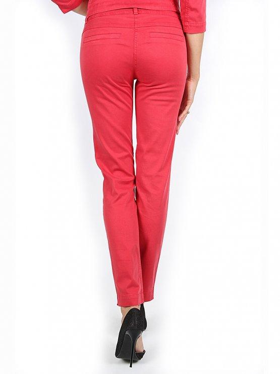 Червен дамски панталон от тенсел