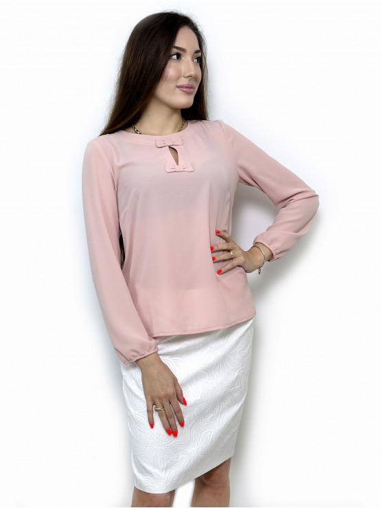Дамска блуза с дълъг ръкав цвят пепел от рози
