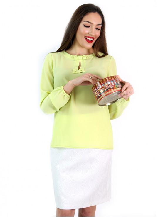 Дамска блуза с дълъг ръкав и папионки
