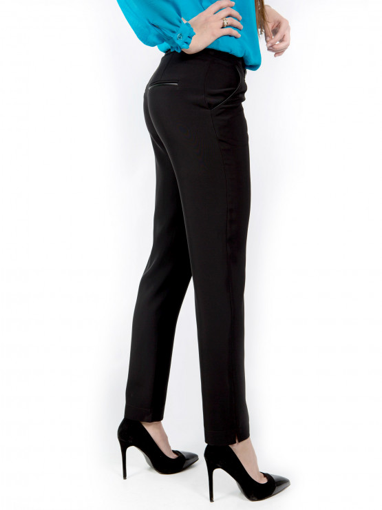 Черен дамски офис панталон Естер