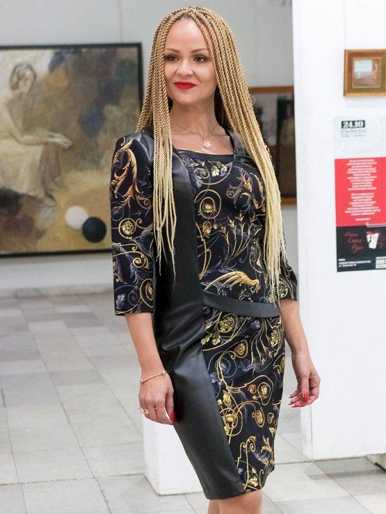 Празнична дамска рокля Жар птица