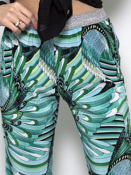 Зелен официален дамски панталон